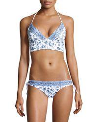 Shoshanna - Blue Paisley Bikini Top - Lyst