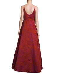 Aidan Mattox - Textured Floor-length Gown - Lyst
