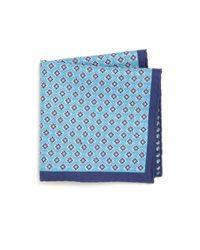 Saks Fifth Avenue - Blue Reversible Floral Pocket Square for Men - Lyst