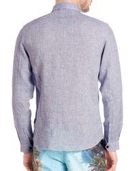 Orlebar Brown - Blue Morton Tailored Linen Button-down Shirt for Men - Lyst