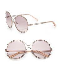 Chloé - Metallic Isidora Wire-rimmed Sunglasses - Lyst