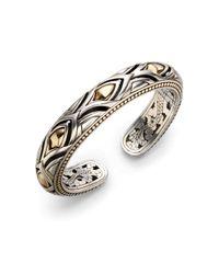 John Hardy - Metallic 18k Yellow Gold & Sterling Silver Bracelet - Lyst