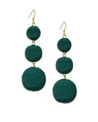 Kenneth Jay Lane | Carnival Triple Drop Earrings/green | Lyst