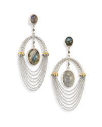 Coomi - Metallic Spring Labradorite, Diamond & Sterling Siler Drop Earrings - Lyst