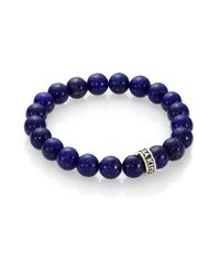 King Baby Studio - Purple Lapis Beaded Bracelet for Men - Lyst