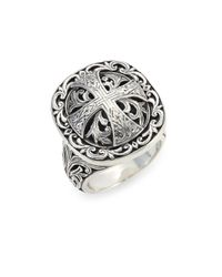 Konstantino - Metallic Sterling Silver Ring - Lyst