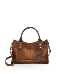 Frye - Brown Melissa Western Leather Satchel - Lyst