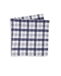 Saks Fifth Avenue - Gray Collection Reversible Plaid Pocket Square for Men - Lyst
