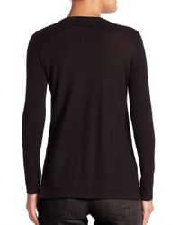 Akris - Black Cashmere Knit Sweater - Lyst
