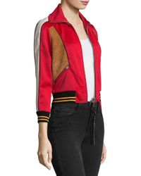 COACH | Red Colorblock Track Jacket | Lyst