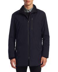 Armani - Blue Matrix Faux Fur Coat for Men - Lyst