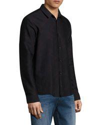 HUGO - Blue Ero3 Geometric Print Shirt for Men - Lyst