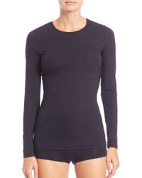 Hanro - Black Soft Touch Long-sleeve Top - Lyst