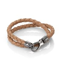 Tod's | Brown Leather Double-wrap Bracelet for Men | Lyst