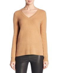 Saks Fifth Avenue - Multicolor Collection Cashmere V-neck Sweater - Lyst