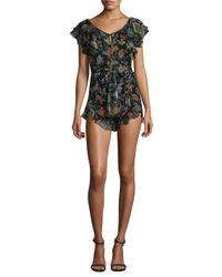 Alice McCALL - Multicolor Tiny Dancer Sheer Floral Playsuit - Lyst