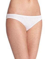 Hanro - White Women's Ultralight Bikini Briefs - Skin - Lyst