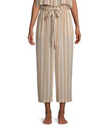 Cool Change - Natural Harlyn Striped Culottes - Lyst