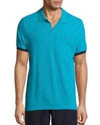 Vilebrequin - Blue Pique Polo T-shirt for Men - Lyst