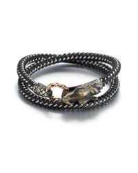 John Hardy | Black Braided Wrap Sterling Silver Bracelet for Men | Lyst