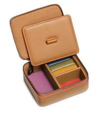 COACH - Brown Colorblock Leather Accessory Box - Lyst