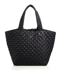 MZ Wallace - Black Metro Medium Quilted Nylon Tote - Lyst