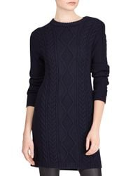 Polo Ralph Lauren - Blue Aran Casual Merino Wool Dress - Lyst