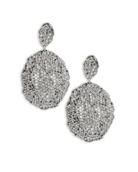 Aurelie Bidermann - Metallic Vintage Lace Drop Earrings - Lyst