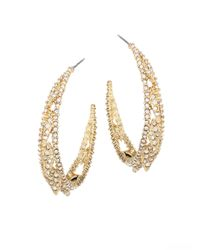 Alexis Bittar - Metallic Elements Crystal Hoop Earrings/1.5 - Lyst
