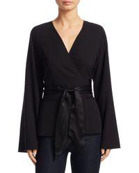 Elizabeth and James - Black Silk Kimono Top - Lyst