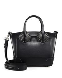 Christian Louboutin - Black Eloise Small Studded Leather Satchel - Lyst