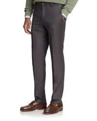 Polo Ralph Lauren | Gray Wool Twill Trousers for Men | Lyst