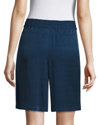 Lafayette 148 New York - Blue Drawstring Shorts - Lyst