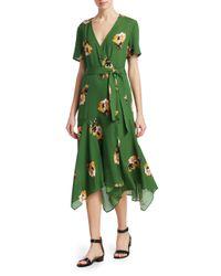 A.L.C. - Cora Dress Green Floral - Lyst