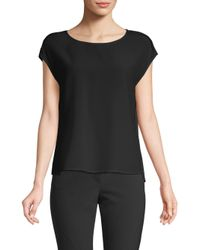 ESCADA - Black Silk Top - Lyst