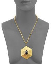 Stephanie Kantis - Metallic Avail Hematite Pendant - Lyst