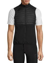 J.Lindeberg   Black Quilted Hybrid Vest for Men   Lyst