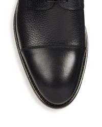 BOSS - Blue Stockholm Derby Leather Shoes for Men - Lyst