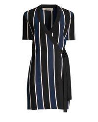 Lyst Diane Von Furstenberg Women S Iris Stripe Wrap