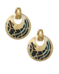 Gas Bijoux - Metallic Shagreen Post Earrings - Lyst
