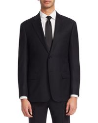Emporio Armani - Black Carryover Button-front Blazer for Men - Lyst