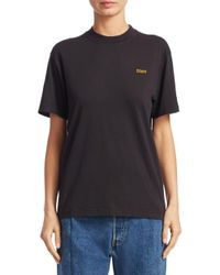 Lyst vetements basic staff tee in black for Vetements basic staff t shirt