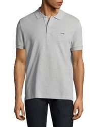 Lacoste - Metallic Short-sleeve Cotton Polo for Men - Lyst