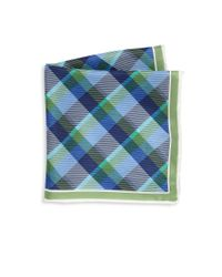 Saks Fifth Avenue - Green Collection Multi-color Plaid Silk Pocket Square for Men - Lyst