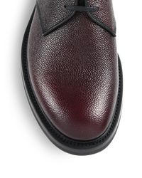 Prada - Multicolor Pebbled Leather Oxfords for Men - Lyst