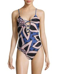 Mara Hoffman - Blue One-piece Tanya Swimsuit - Lyst