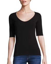 T By Alexander Wang | Black Solid Back Cutout Tee | Lyst