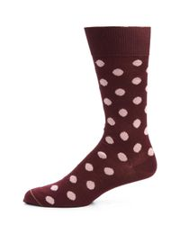 Paul Smith - Purple Maxispot Dot Socks for Men - Lyst