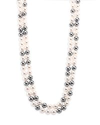 Adriana Orsini | Metallic Faux Pearl Double-strand Necklace/70 | Lyst
