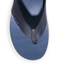 Cole Haan - Blue Men's Zerogrand Thong Sandals for Men - Lyst